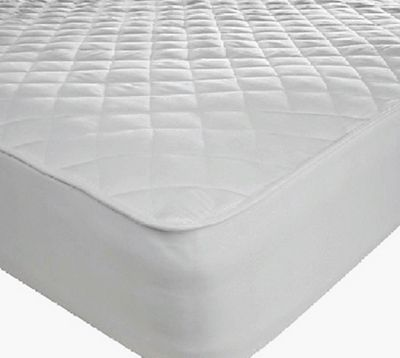 Quilted Pillow Protector Pair Microfibre Soft Touch Fitted Protection