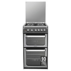 Hotpoint Ultima Gas Cooker with Gas Grill and Gas Hob, HUG52G - Graphite