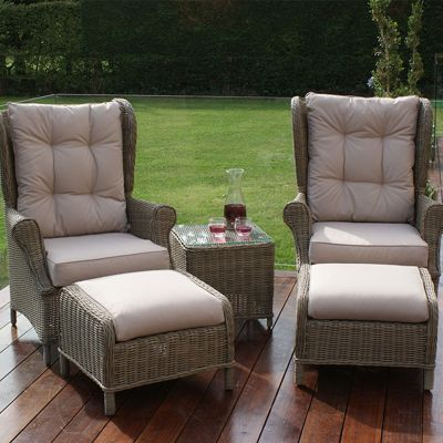 Maze Rattan - Winchester High Back 3 Piece Lounge Set