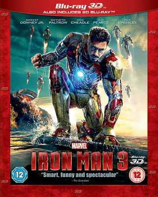 Iron Man 3 3D Blu-Ray / 2D Blu-Ray