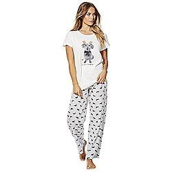 61b325457e F F Sausage Dog Christmas Pyjamas 8-10 Cream