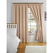 Hamilton McBride Thermal Backed Pencil Pleat Curtains - Latte