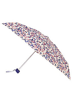 Totes Floral Butterfly Print Miniflat Umbrella - Pink & Blue