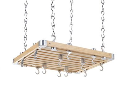 Hahn European Rectangular Ceiling Rack in Wooden
