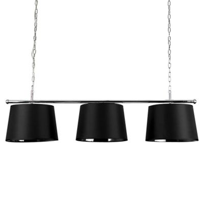 Modern Suspended 3 Way Ceiling Light & Black/Silver TapeReds