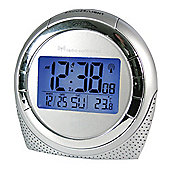 Acctim 71260 Zenith Radio Controlled Alarm Clock - Silver