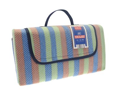 Country Club Picnic Blanket 130x150cm Stripes