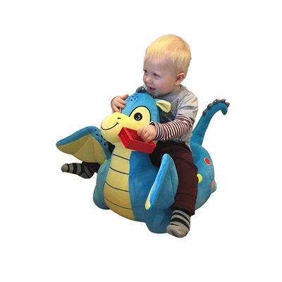 Plush Dragon Childs Sofa Riding Chair (Blue)