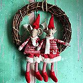 Felt Mouse Christmas Wreath Decoration