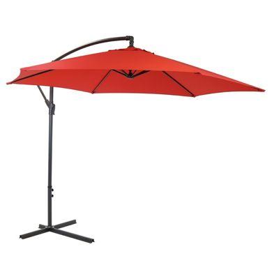 Charles Bentley 3m Red Cantilever Garden Parasol