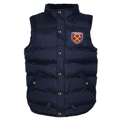 West Ham United FC Boys Gilet Navy 8-9 Years MB