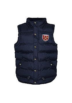 West Ham United FC Boys Gilet - Navy