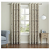 "Fox & Ivy Floral Curtains - 66x54"" - Natural"