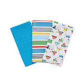 Mothercare Baby's Multicoloured Extra Large Muslin Cloths - 3 Pack
