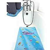 Clevamama Large Non Slip Baby Toddler Bath Mat & Kneeling Cushion Under the Sea