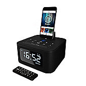 Majority Neptune iPhone Speaker Dock Alarm Clock Black