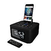 Majority Neptune iPhone Speaker Dock Alarm Clock Black