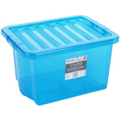Wham 24L Crystal Box & Lid Tint Blue - Pack of 5