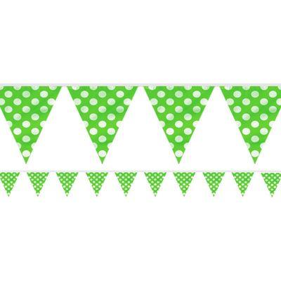 Green Polka Dot Bunting - Plastic 3.6m