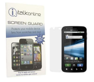 iTALKonline S-Protect LCD Screen Protector and Cleaning Cloth - For Motorola Atrix