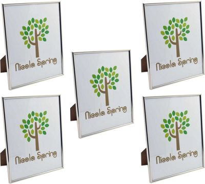 Nicola Spring Silver Metal 8x10 Photo Frame - Standing - Pack Of 5