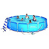 Bestway Steel Pro Metal Frame Round Swimming Pool Package 14ft x 33""