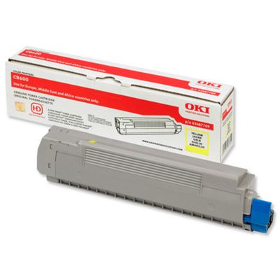 OKI Toner Cartridge for C8600 Colour Printers (Yellow)