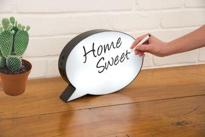 Light Up Speech Bubble Sign