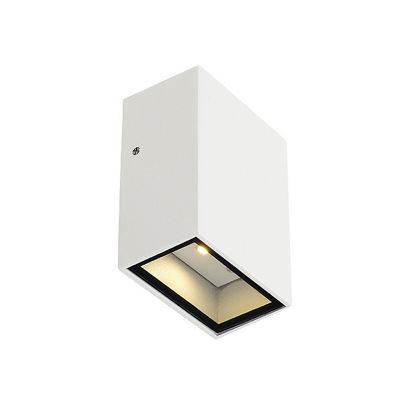 Quad Wall Lamp Light Square White LED 1X3W Modern Style