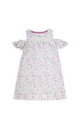 F&F Floral Cold Shoulder Dress Multi 12-18 months