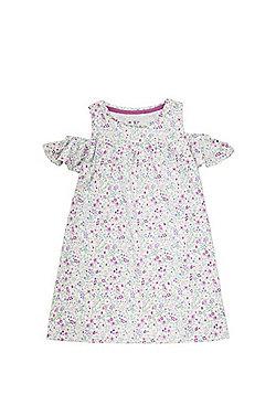 F&F Floral Cold Shoulder Dress - Multi