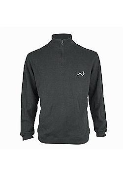 Woodworm Golf Half Zip Sweater Grey 3Xl