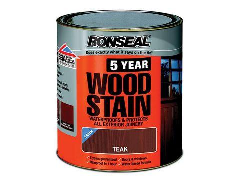 Ronseal 5YWST25L 2.5L 5 Year Woodstain - Teak