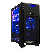 Cube Ravager Ryzen 5 Quad Core Blue LED Gaming PC 8GB RAM WIFI 1TB Hard Drive GeForce GTX 1060 6GB Win 10