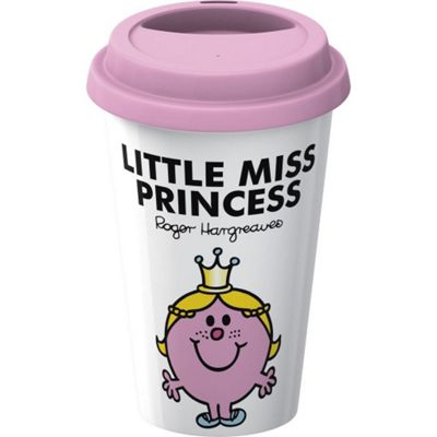 Creative Tops Mr. Men Little Miss Princess Double Walled Porcelain Travel Mug 5139293