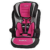 Nania Luxe Imax SP High Back Booster Car Seat with harness, Group 1-2-3, Agora Framboise