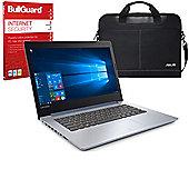 "Lenovo IdeaPad 320-15ISK 15.6"" Laptop Intel Core i3-6006U 8GB 128GB SSD Windows 10 with Internet Security & Case - 80XH00DHUK"