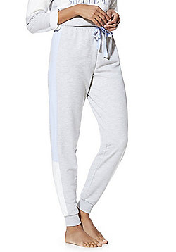 F&F Colour Block Lounge Joggers - Grey & Blue