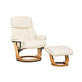 Sofa Collection Canneto Swivel Chair With Massage And Heat Function And Footstool - Cream