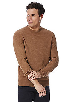 F&F Soft Touch Crew Neck Jumper - Camel