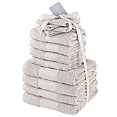 Luxury 100% Egyptian Cotton 12 Piece Face Hand Bathroom Jumbo Towel Bale Set - Beige