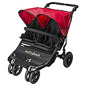 Out n About Little Nipper Double Pushchair, Black & Red