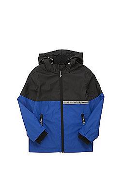 F&F Shower Resistant Rain Mac - Blue