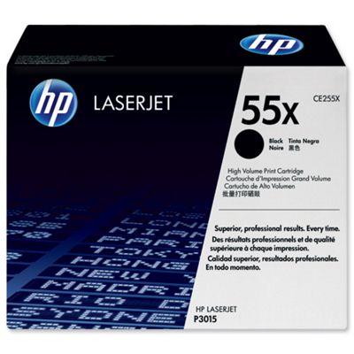 Hewlett-Packard 55X LaserJet Toner Cartridge Black