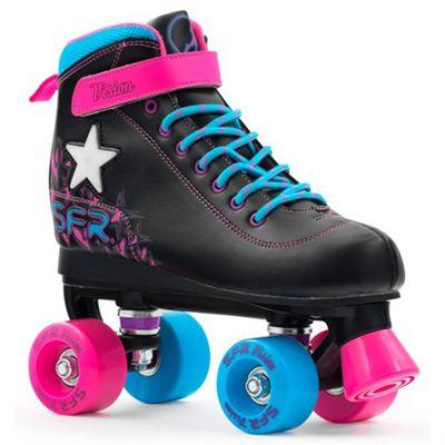 SFR Vision II Lights Kids Quad Roller Skates JNR 12