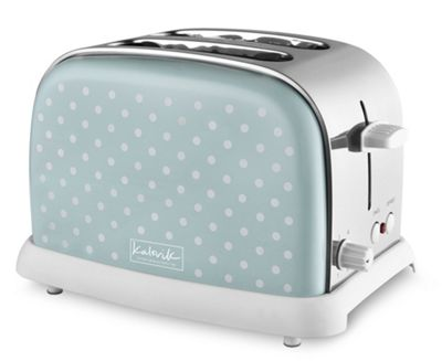 KitchenOriginals by Kalorik Shutter Green Polka Dot Two Slice Toaster