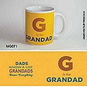 Original Metal Sign Co Mug G is for Grandad