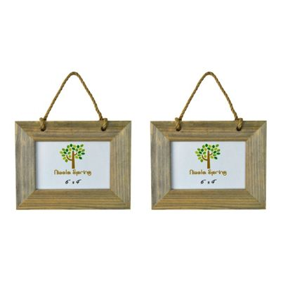 Nicola Spring Wooden Hanging Photo Picture Frame - 6 x 4