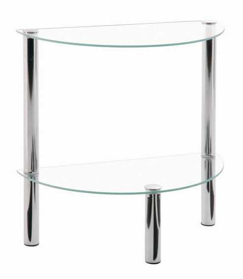 Urbane Designs Estland Side Table - Chrome