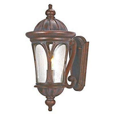 Canada 1 light outdoor up light wall bracket, brown, clear glass